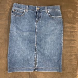 Vintage Juicy Couture Denim Pencil Skirt Medium